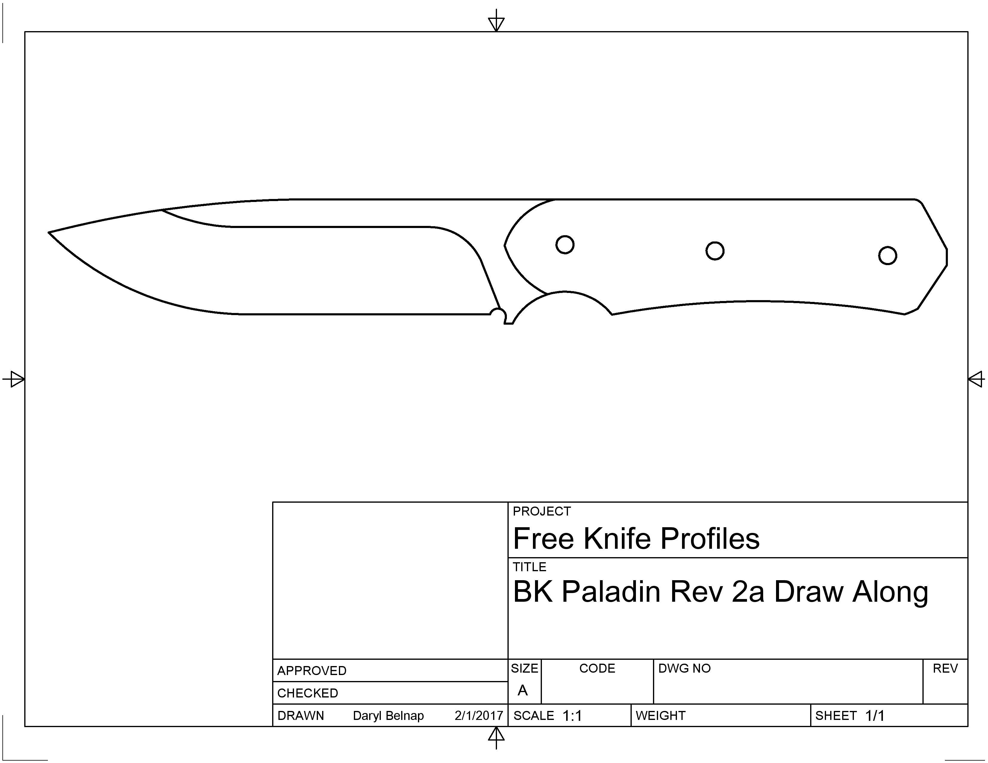 bk paladin pdf template and cad file link belnap custom knives llc. Black Bedroom Furniture Sets. Home Design Ideas